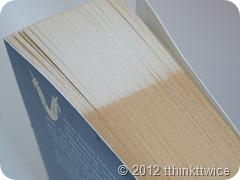 Buch schmirgeln vorher-nachher