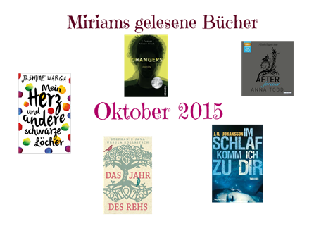 Miriams gelesene Bücher Oktober 2015