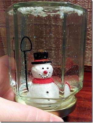 fertige Schneekugel Schneemann